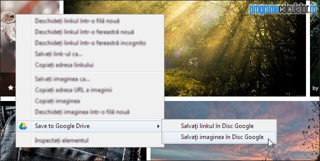 Salvați imaginea în Disk Google