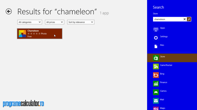 Windows Store Chameleon