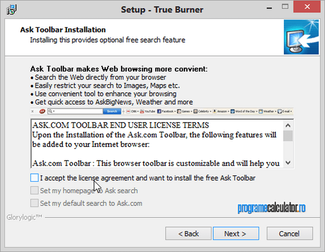 Instalare True Burner