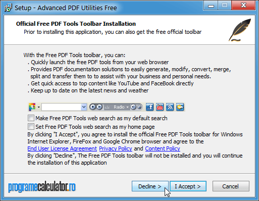 Instalare Advanced PDF Utilities Free