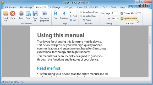 Transformă PDF în Word