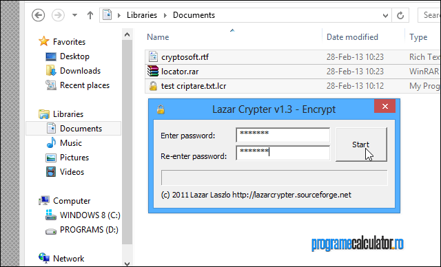 Criptare fișiere
