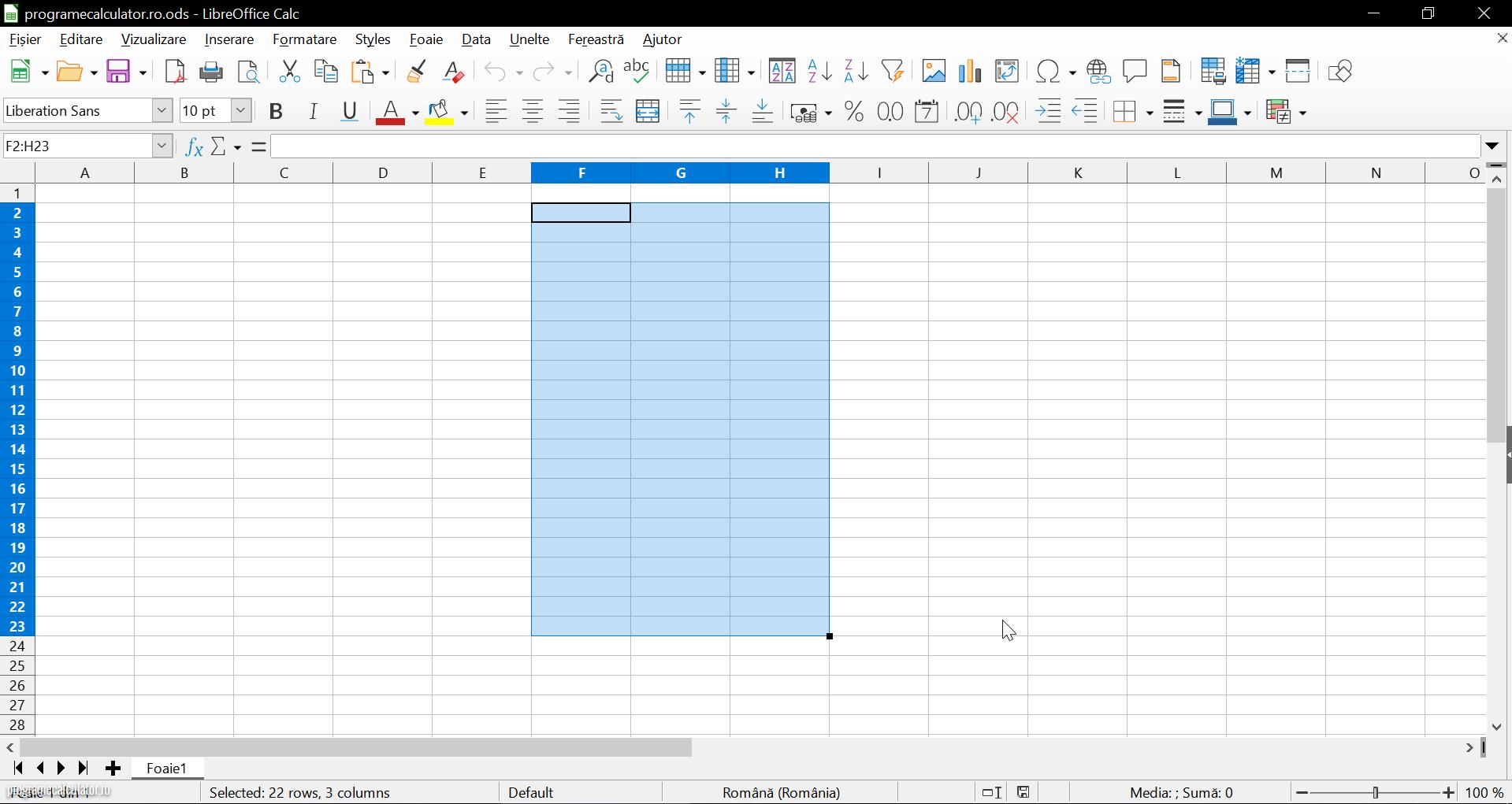 LibreOffice - Calc