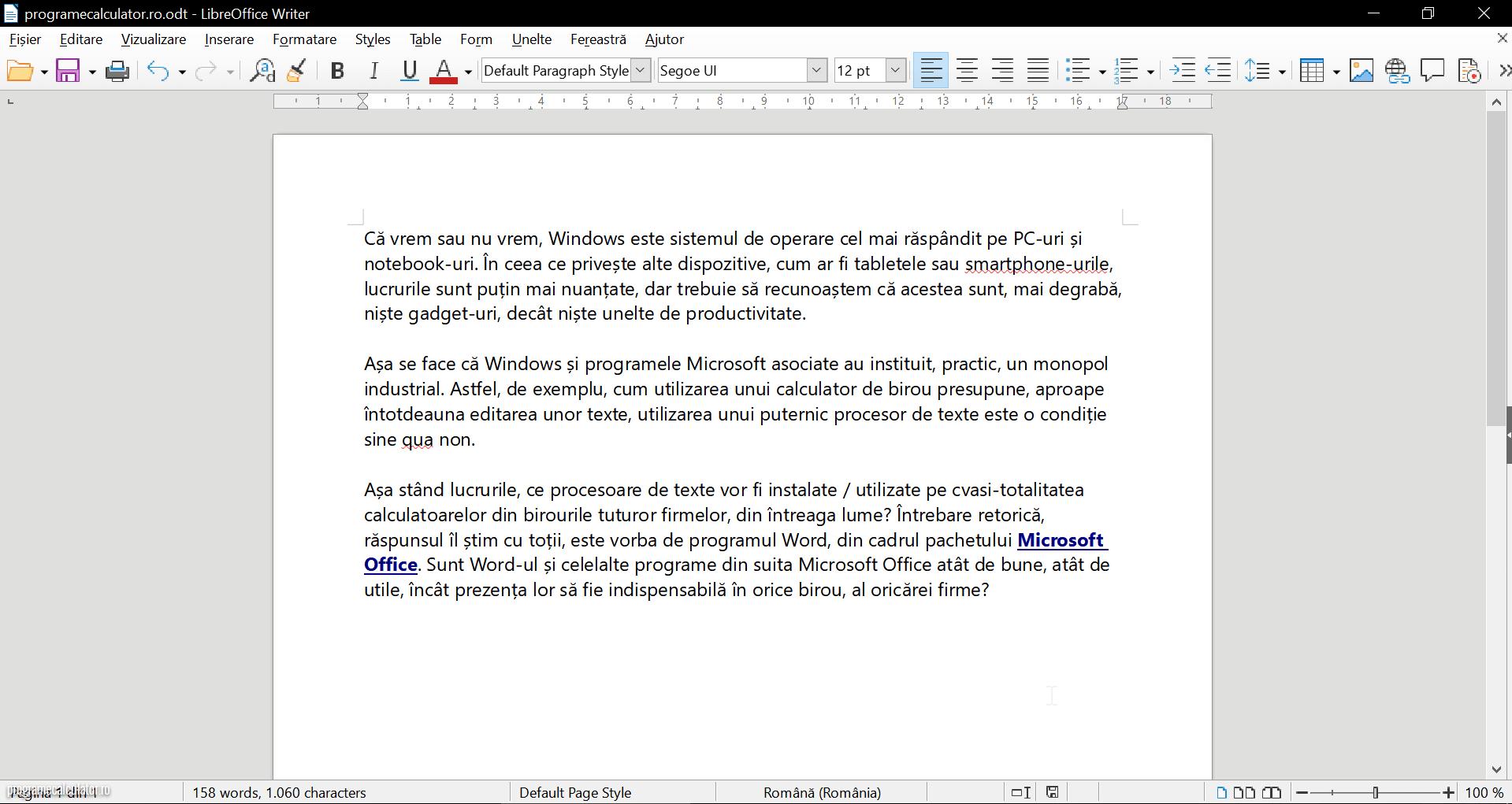 LibreOffice - Settings