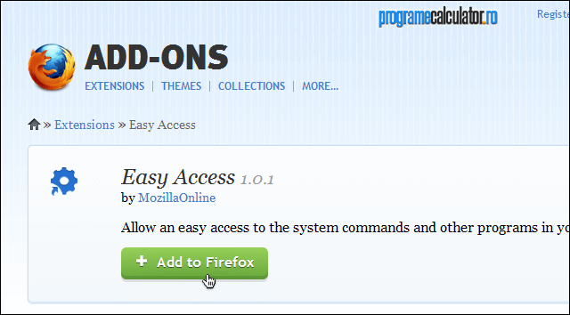 Instalare add-on Easy Access