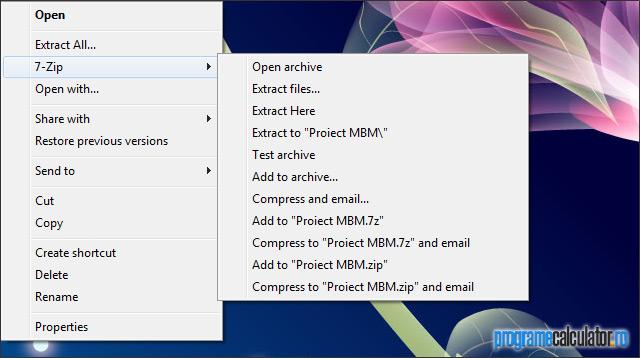 7-Zip: extrage arhive de orice fel