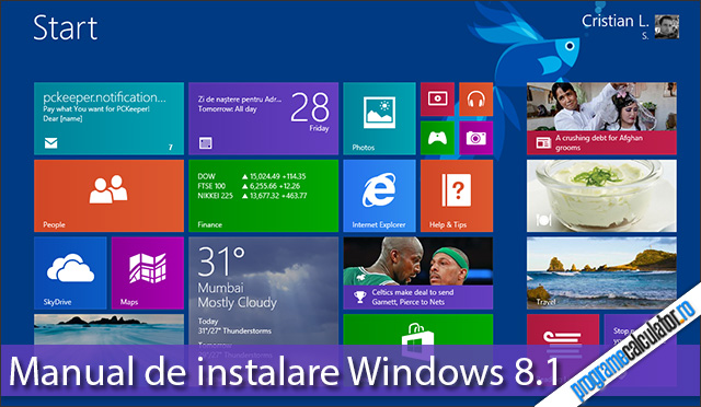 Manual de instalare Windows 8.1