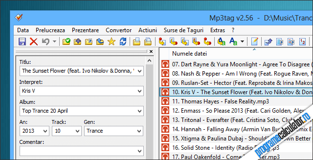 Mp3tag actualizeaza informatiile melodiilor