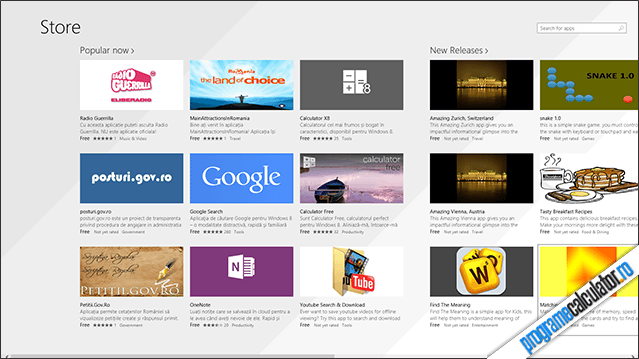 Windows Store în Windows 8.1 Preview