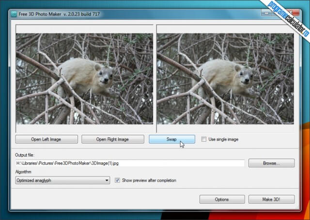 Program de facut poze 3D: Free ED Photo Maker