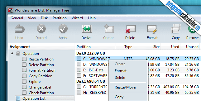 Wondershare Disk Manager Free