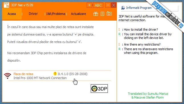 program pentru instalarea driverelor de retea