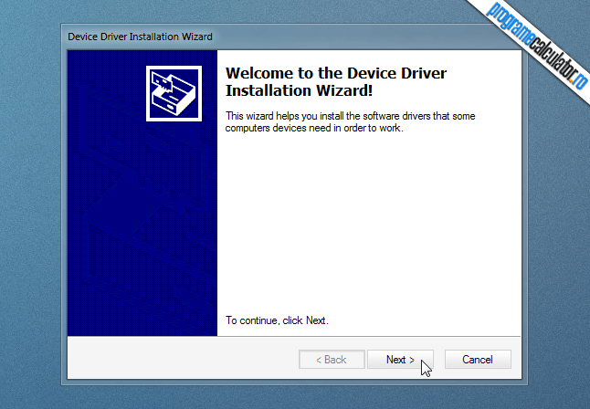 welcome to the device driver installation wizard
