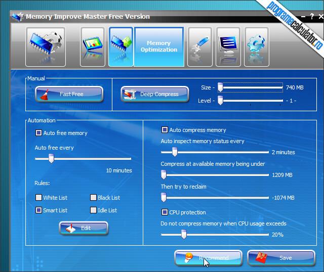 Optimizarea memoriei RAM