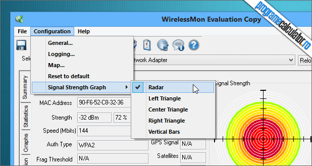 WirelessMon - Modul Radar
