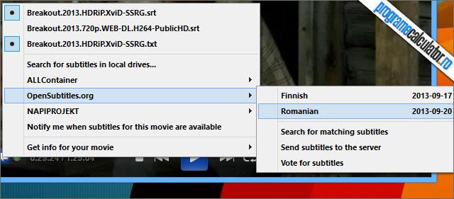 ALLPlayer Descarcare subtitrari
