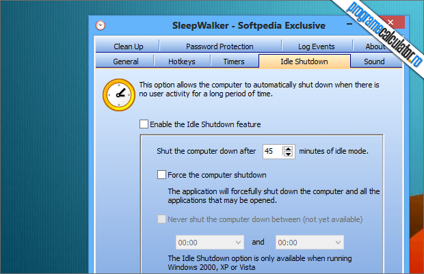 Idle Shutdown SleepWalker
