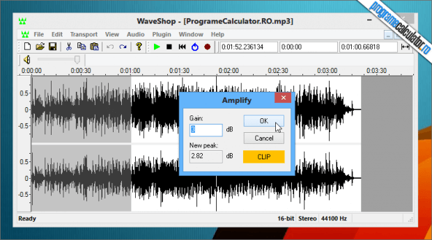 WaveShop editor audio