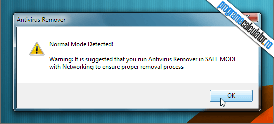 antivirus remover normal mode