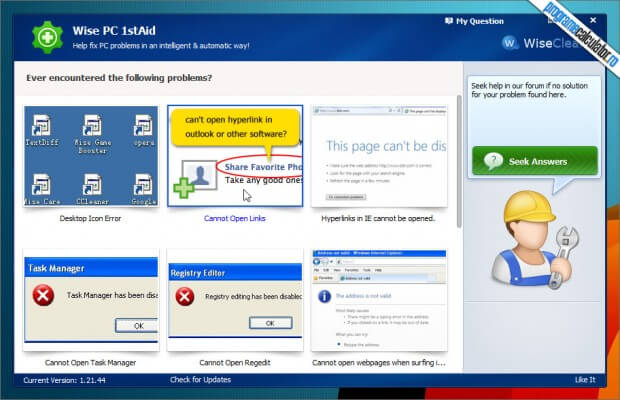 cum se pot remedia problemele calculatorului cu Wise PC 1STaID