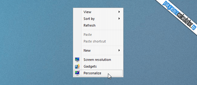 desktop » personalize