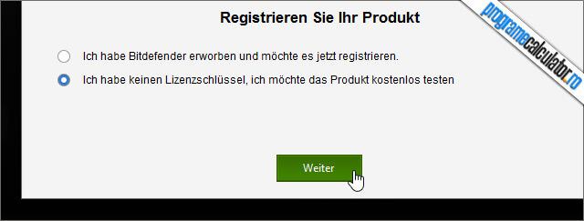 inregistrarea produsului Bitdefender