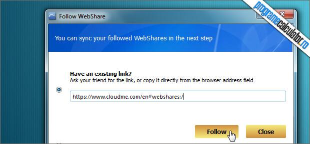 partajare web cloudme