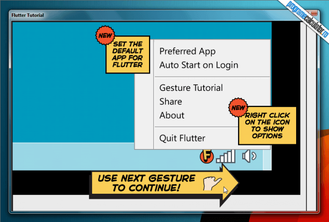 Flutter tutorial systray