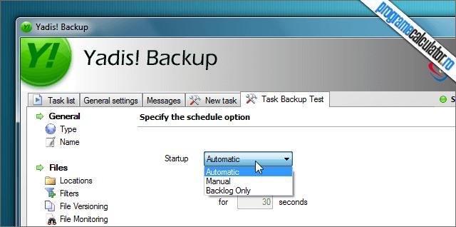 Yadis! Backup Programare backup