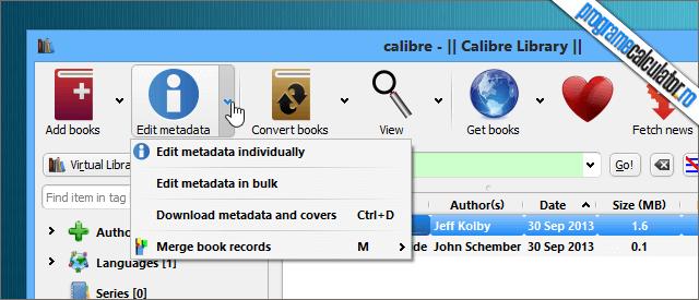 calibre metadate ebook