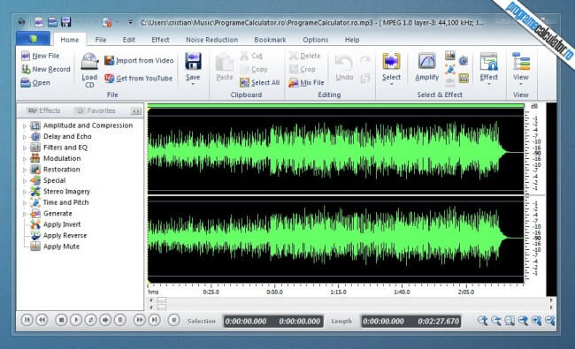 program de taiat melodii - Power Sound Editor
