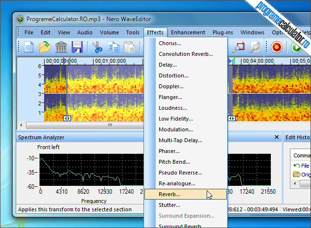2-Nero WaveEditor-aplicare-efecte