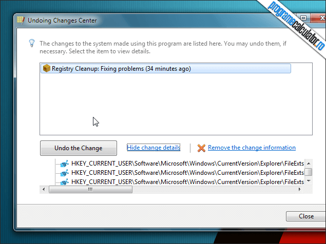 3-Registry Life-undo-changes-center