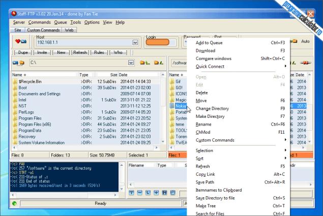 3-Staff-FTP-locatie-remote