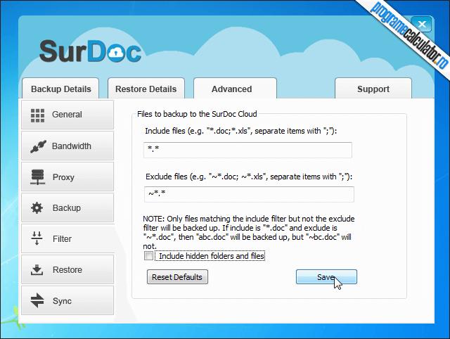 3-SurDoc-creare-filtre-backup