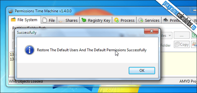 4-Permissions Time Machine-restaurare-permisiuni-default
