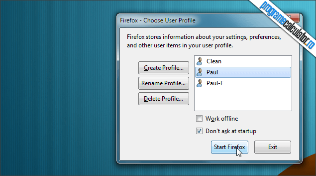 1-Firefox Profile Manager-integrat