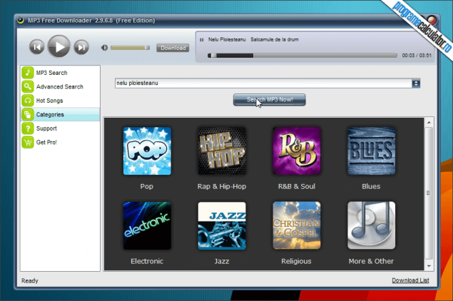 1-MP3 Free Downloader-categorii