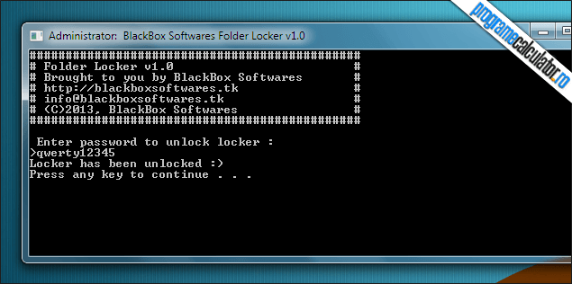 2-Folder locker-deblocare-folder