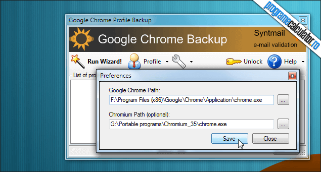 4-Google Chrome Backup-locatii-custom