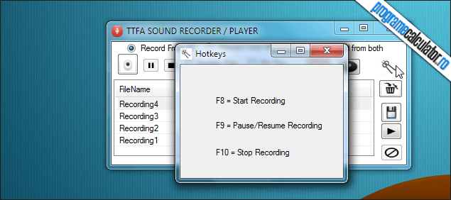 TTFA Sound Recorder