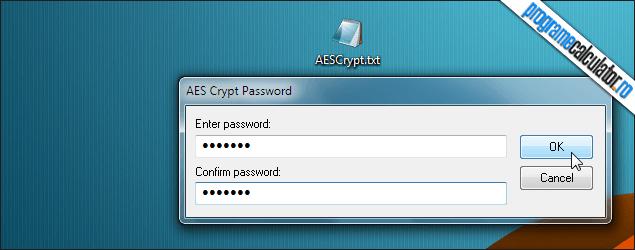 2-AES Crypt-stabilire-parola