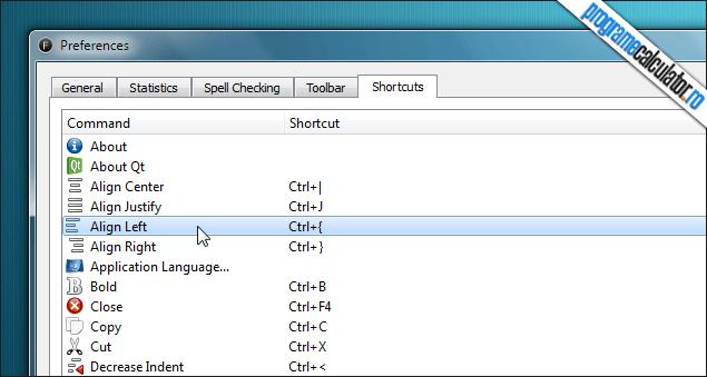 FocusWriter-configurare-taste-rapide
