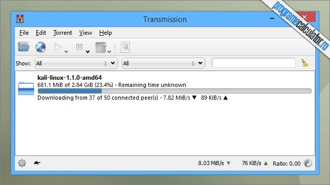 Transmission - program pentru descarcat fisiere de pe torrent pentru Windows, Linux și OS X
