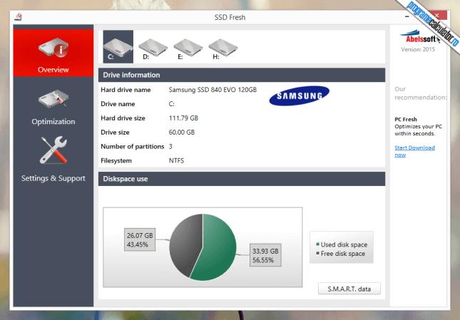 SSD Fresh - program pentru cresterea duratei de viata si a performantei SSD-urilor