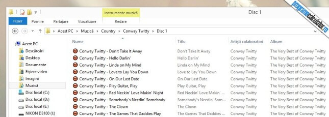metadatele melodiilor au fost completate