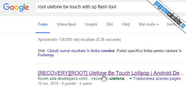 rootare telefon folosind sp flash tool