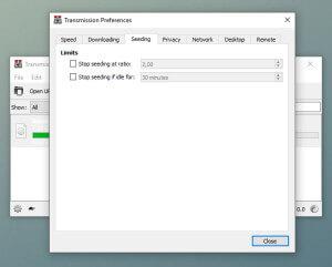 Transmission Preferences - Downloading