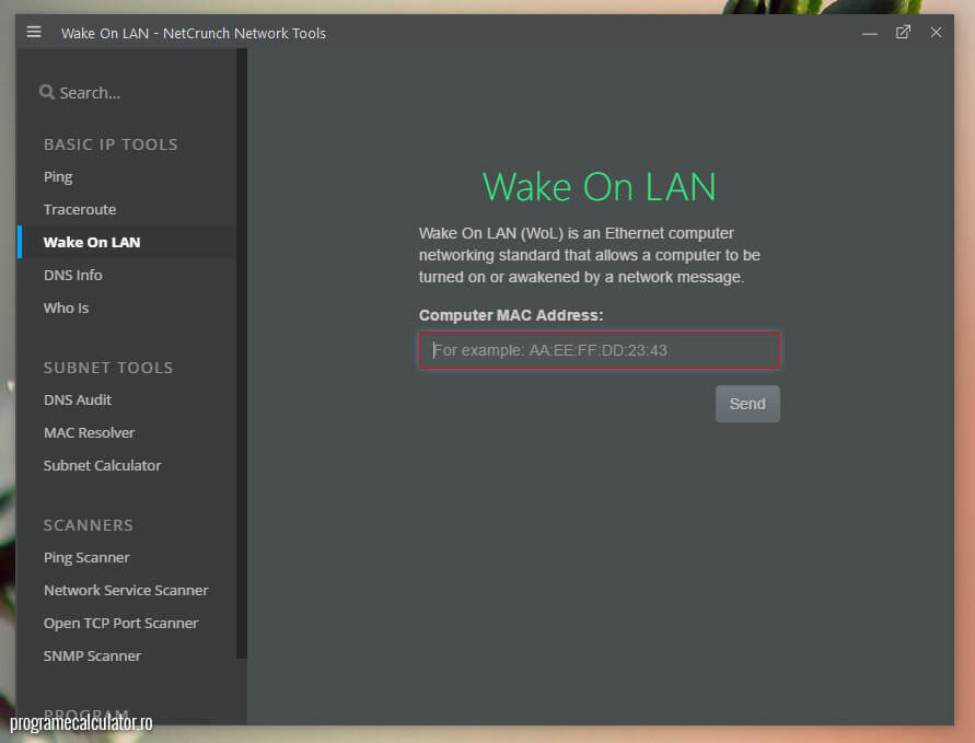 NetCrunch - Wake on LAN