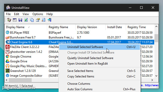 dezinstalator programe uninstallview